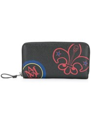 Alexander Mcqueen Badges Print Continental Wallet Black
