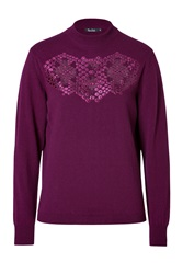 Marios Schwab Cashmere Pullover In Beetroot Red
