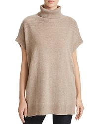 Velvet By Graham And Spencer Quinny Turtleneck Cashmere Poncho Cobblestone