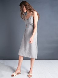 Jigsaw X Alr Audrey Linen Sundress Carbon Grey
