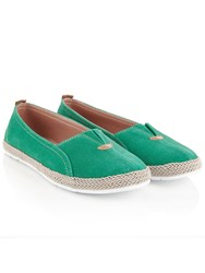 Dash Slip On Espadrill Green Navy