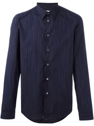 Paul Smith Ps By Faded Pinstripe Shirt Blue