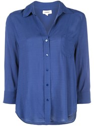 L'agence Casual Button Down Shirt Blue