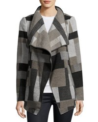 French Connection Printed Long Sleeve Jacket Grey Multi