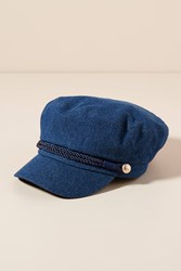 Anthropologie Emilia Engineer Cap Navy