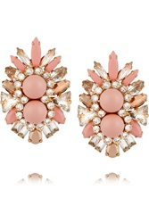 Shourouk Lady Gold Tone Crystal Earrings
