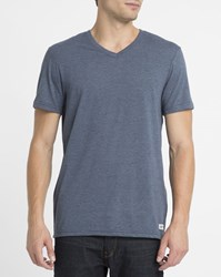Element Blue Basic V Neck T Shirt