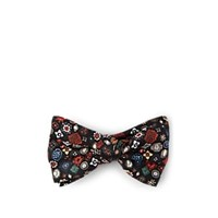Alexander Mcqueen Jewels Silk Bow Tie Black