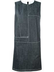 Paco Rabanne Denim Shift Dress Blue