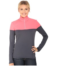 Spyder Etna Therma Stretch T Neck Depth Bryte Pink Women's Long Sleeve Pullover Black