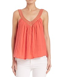 Christophe Sauvat Embroidered Tank Top Coral