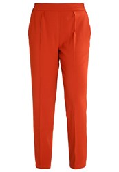 Mintandberry Trousers Red Ochre Dark Red