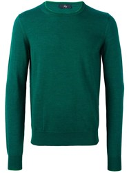 Fay Ribbed Knitted Sweater Green
