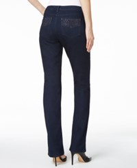 Charter Club Prescott Embellished Bootcut Jeans Only At Macy's Indigo Blue Wash