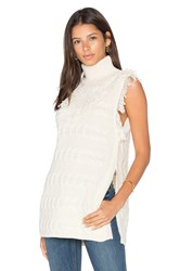 Fine Collection Daphne Sleeveless Sweater Ivory