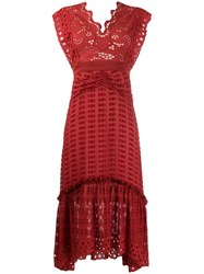 Three Floor Blaze Dress Red