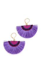 Shashi Sophie Fan Earrings Purple