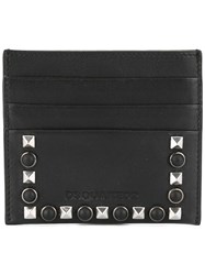Dsquared2 Dante Studded Credit Card Holder Men Calf Leather One Size Black