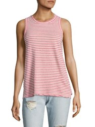 Current Elliott Striped Muscle Tee Red Anchor Stripe