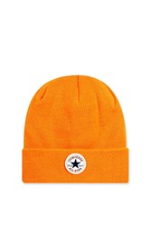 Topshop Logo Beanie By Converse Orange