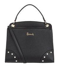 Harrods Small Rockingham Grab Bag Black