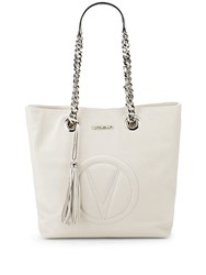 Valentino By Mario Valentino Marilyn Leather Tote Milk