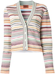 Missoni V Neck Striped Cardigan