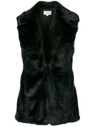 Denim And Supply Ralph Lauren Fur Gilet Black