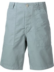 Maison Kitsune Canvas Worker Shorts Grey