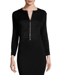 The Row Stanna Cropped Zip Front Jacket Black