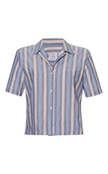 Stella Jean Logica Short Sleeve Shirt Stripe