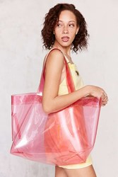 Urban Outfitters Shania Glitter Tote Bag Pink