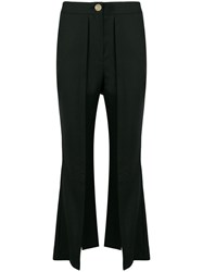 Eudon Choi Cropped Flared Trousers Black