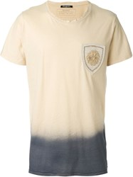 Balmain Dip Dye T Shirt Nude And Neutrals