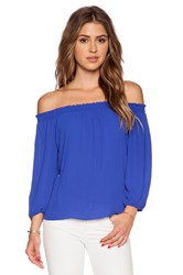 Eight Sixty Off Shoulder Top Royal