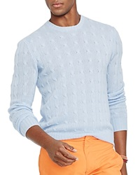 Polo Ralph Lauren Cable Knit Cashmere Sweater Cloud Blue