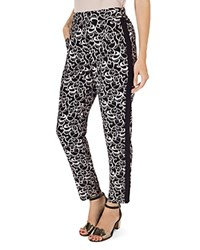 Phase Eight Bridgette Abstract Print Pants Black And Putty