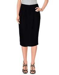 Pomandere Skirts Knee Length Skirts Women Black