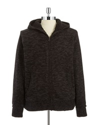 Weatherproof Vintage Faux Fur Lined Sweatshirt Charcoal Heather
