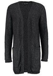 Minimum Hobson Cardigan Dark Grey Melange Mottled Anthracite