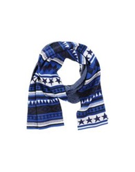 Aimo Richly Oblong Scarves Blue
