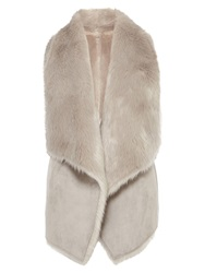 Coast Helsinki Faux Fur Gilet Grey