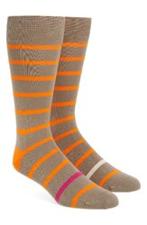 Paul Smith Men's Stripe Socks Tan Orange