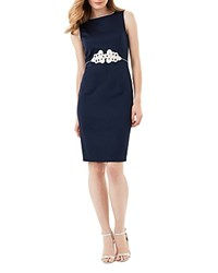 Phase Eight Martyn Tapework Detail Dress Navy Pearl