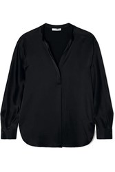 Vince Silk Satin Blouse Black