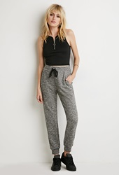 Forever 21 Marled French Terry Sweatpants Charcoal