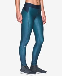 Under Armour Heatgear Printed Compression Leggings Blackout Navy