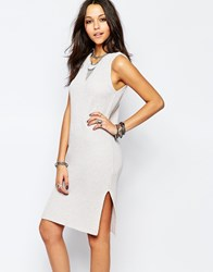 Noisy May Sleeveless Knitted Tunic Dress White
