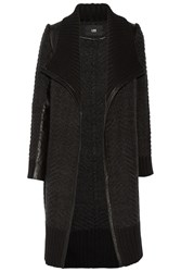 Line Windham Leather Trimmed Knitted Cardigan