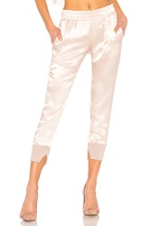 Enza Costa Cuffed Jogger Pant Pink